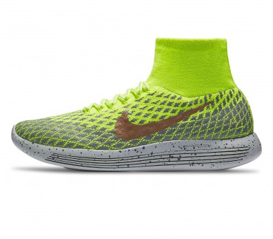 Nike - LunarEpic Flyknit Shield men's running shoes (light green/grey)
