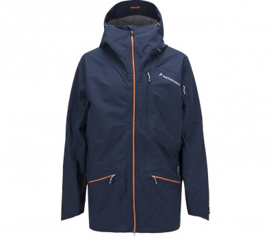 Peak Performance - Radical men's 3 layer ski jacket (dark blue/orange)