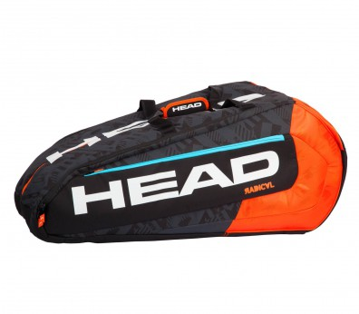 Head - Radical 12 R Monstercombi tennis bag (black/orange)