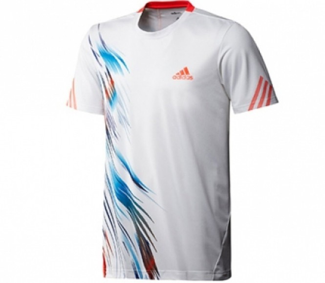 Adidas - Boys Adizero Tee white/red/blue - HW12