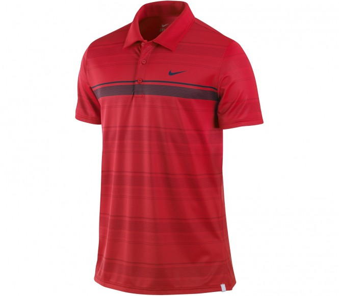 Nike - Sphere Stripe Polo rot - FA12