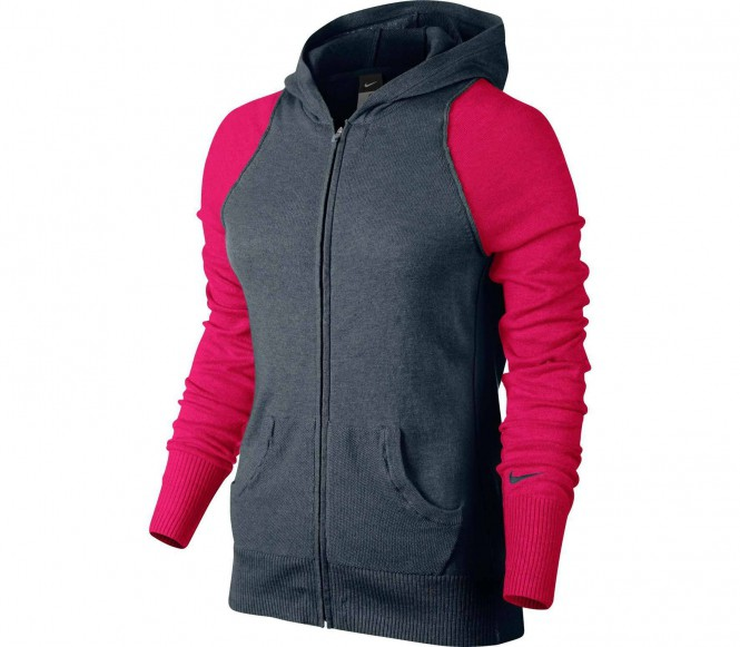 nike knit sweater women 39 s tennis jacket dark grey red tennis tennis cloth women low. Black Bedroom Furniture Sets. Home Design Ideas