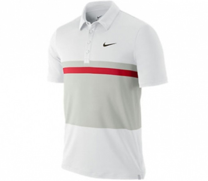 Nike - Match Stripe UV Polo white - SP12
