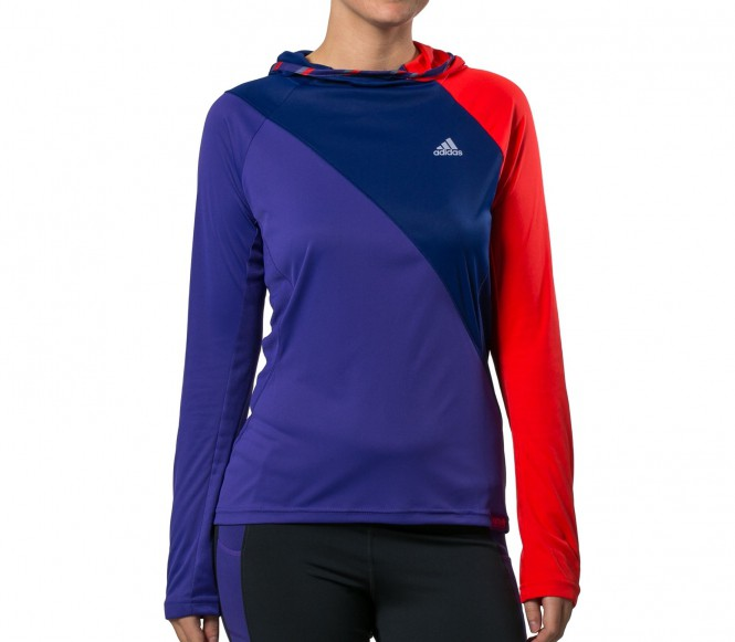 adidas active hoodie women s running pullover purple blue red running running cloth. Black Bedroom Furniture Sets. Home Design Ideas