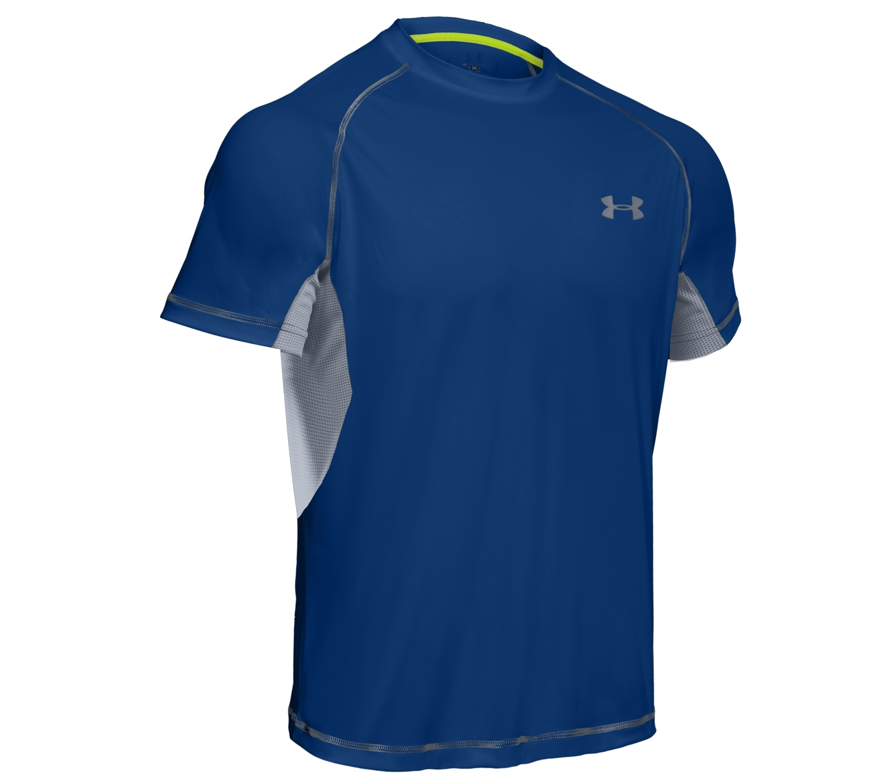 under armour t shirt heatgear catalyst blue default