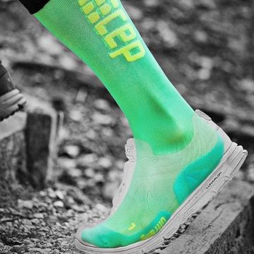 The CEP Ultralight running socks are particularly thin and are therefore ideal to wear with snug spo...