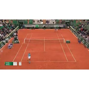 Have you seen this amazing hit by @rafaelnadal at the French Open 2016? Video: @fans.of.sport #kelle...