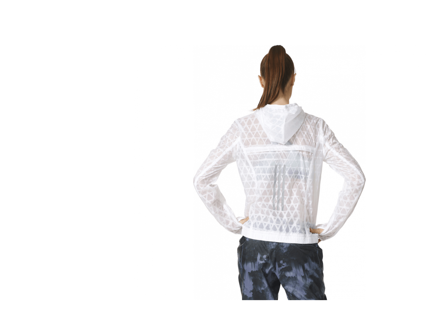 adidas kanoi run transparent damen laufjacke wei grau im online shop von keller sports kaufen. Black Bedroom Furniture Sets. Home Design Ideas