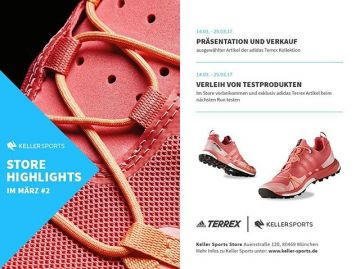 Store Highlights March ???From tomorrow on until 25th March you can test shoes and buy articl...