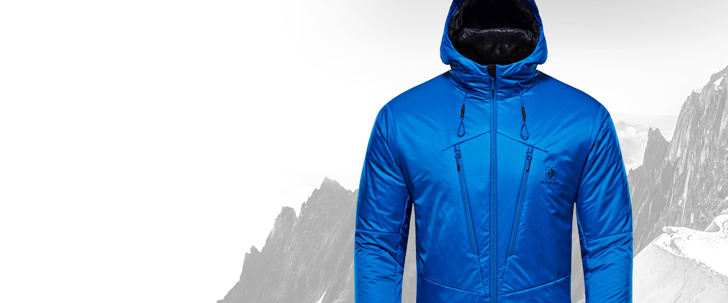 Conquer the peaks with BLACKYAK outdoor clothing.