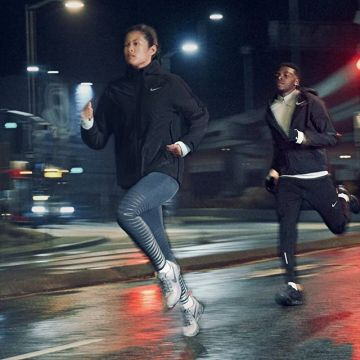 There's no wrong weather to run!? #nikerunning #nikeshield #defytheweather #runthestreets #pegasu...