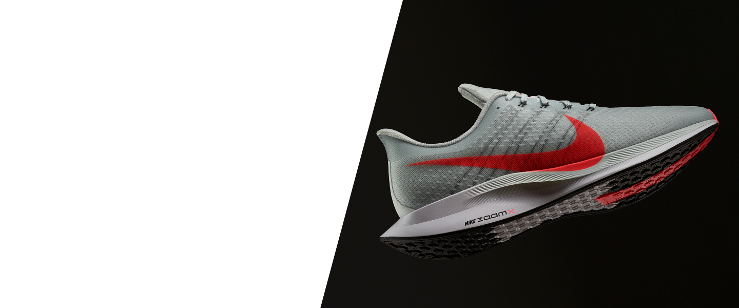 Equipped with reactive Nike Zoom X foam and a light mesh upper, the Nike Zoom Pegasus 35 Turbo is a fantastic partner for long-distance runs.