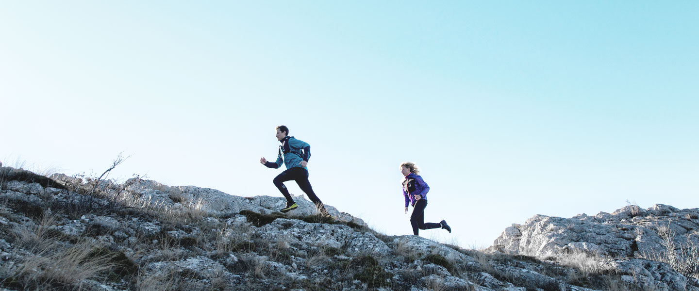 Geared up for progress: reach new goals with Salomon outdoor shoes and equipment.