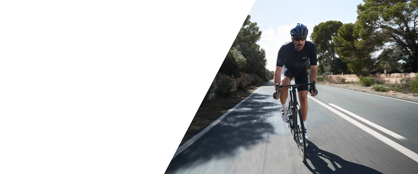 Enjoy functional, aerodynamic comfort every time you get on your bike: GORE® Wear bike clothes.