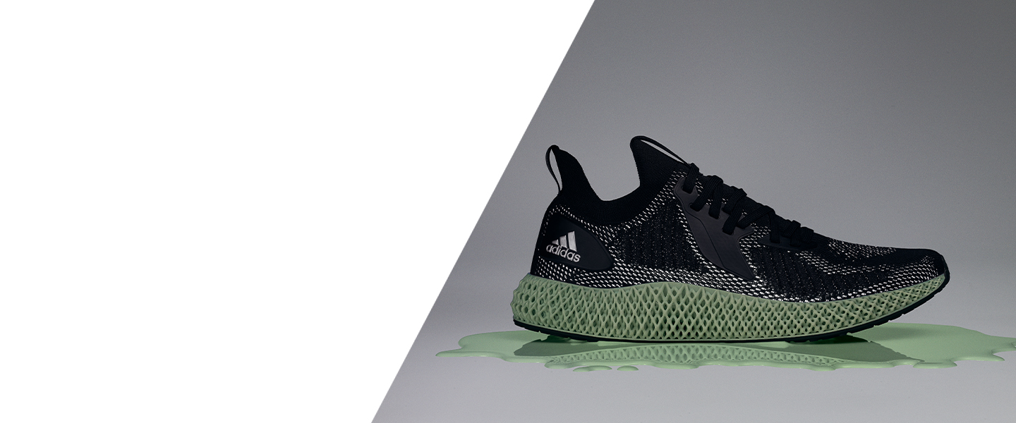 A 3D printed midsole that delivers comfort in every stride - experience the adidas alphaedge 4D.